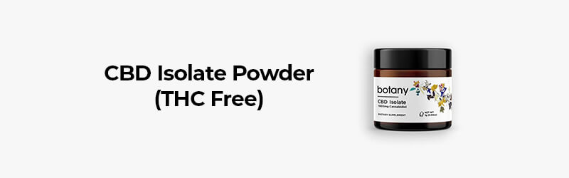 CBD isolate powder from Botany.bio. Buy hemp oil online USA.