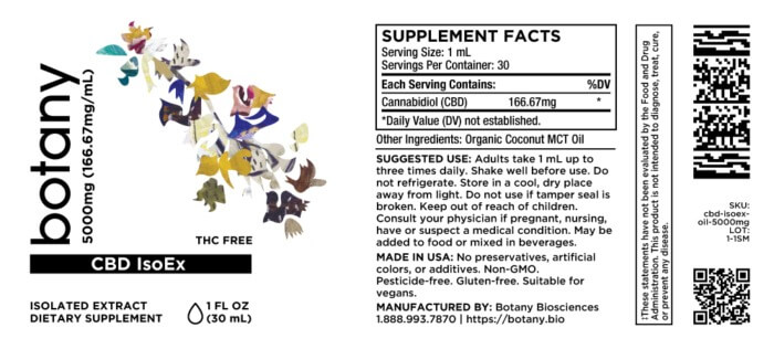 CBD Isolate Oil (THC-Free)