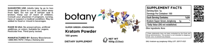 Kratom Super Green Jongkong – Powder