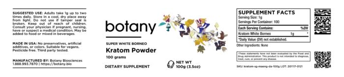 Kratom White Borneo – Powder