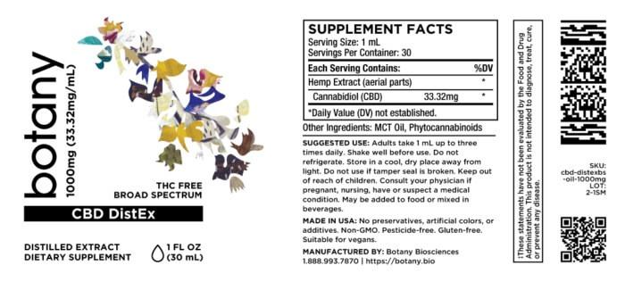 CBD DistEx (Broad Spectrum, THC-Free) – Oil