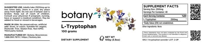 L-Tryptophan – Powder, 100g