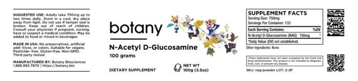 N-Acetyl D-Glucosamine (NAG) – Powder, 100g