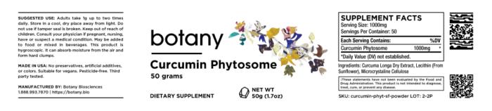 Curcumin Phytosome (Soy Free) | 18%+ Curcuminoids – Powder, 50g