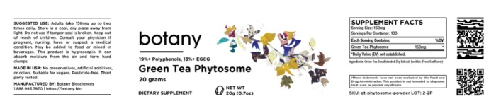 Green Tea Phytosome | 19%+ Polyphenols, 13%+ EGCG – Powder, 20g