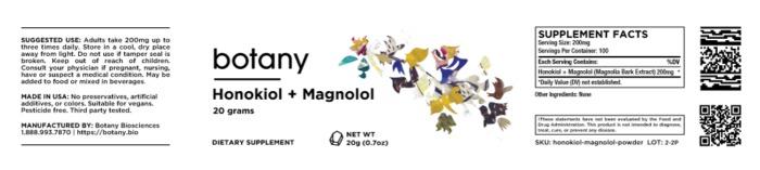 Honokiol + Magnolol (Magnolia Bark Extract) – Powder, 20g