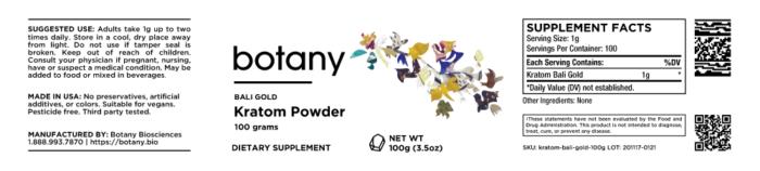Kratom Bali Gold – Powder