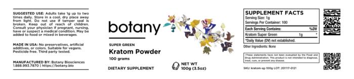 Kratom Super Green – Powder
