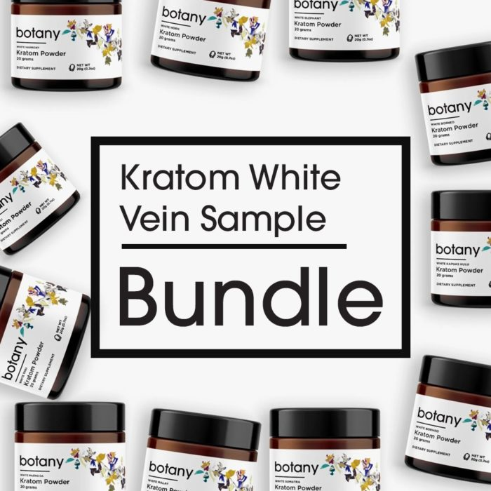 Kratom White Vein Sample Bundle – Powder Set