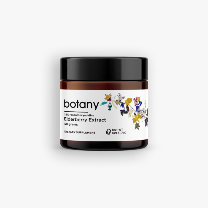 Elderberry (Sambucus Nigra) | 25% Proanthocyanidins – Powder, 50g