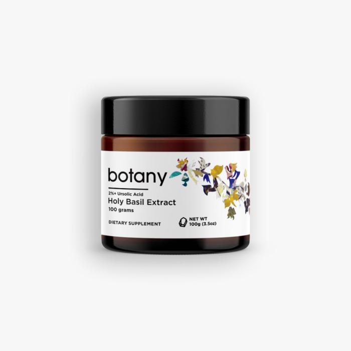 Holy Basil (Ocimum Tenuiflorum) | 2%+ Ursolic Acid – Powder, 100g